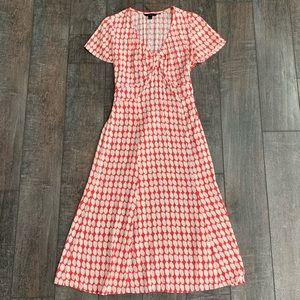 Boden A-Line Tie Back Midi Dress